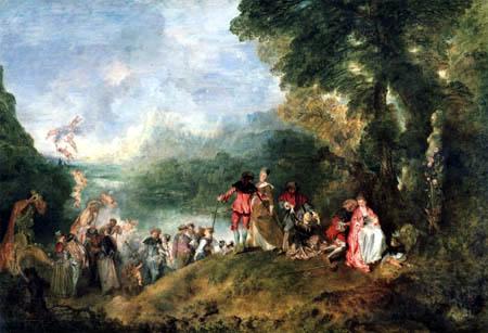 Jean-Antoine Watteau - Peregrinación a la isla de Citera
