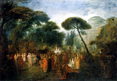 Jean-Antoine Watteau - Bride course