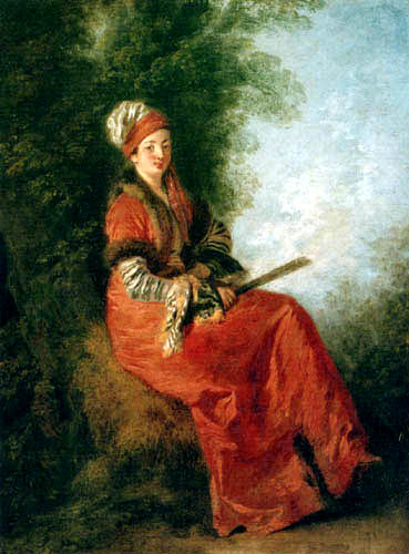 Jean-Antoine Watteau - The dreaming woman