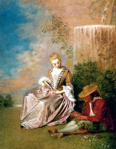 Jean-Antoine Watteau - The afraid Lover