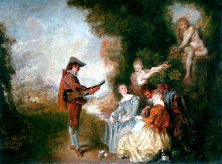 Jean-Antoine Watteau - Amatory instruction