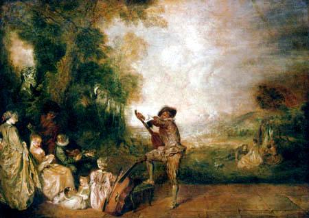 Jean-Antoine Watteau - The Concert
