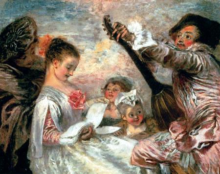 Jean-Antoine Watteau - Music lesson