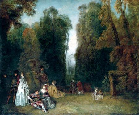 Jean-Antoine Watteau - Perspective