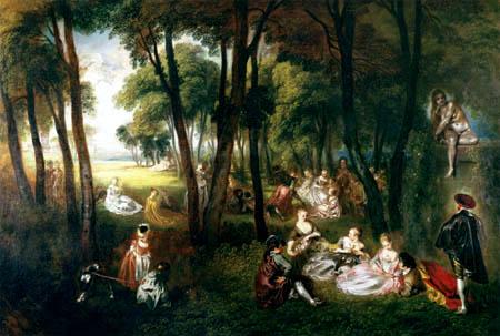 Jean-Antoine Watteau - Ländliche Vergnügungen