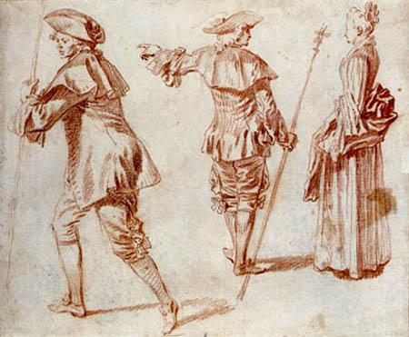 Jean-Antoine Watteau - Three pilgrims