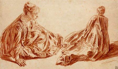 Jean-Antoine Watteau - Lady, Study
