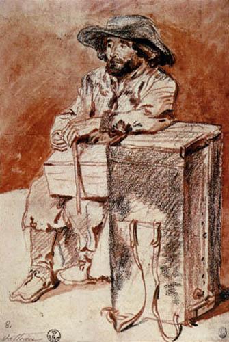 Jean-Antoine Watteau - Sitzender Savoyarde