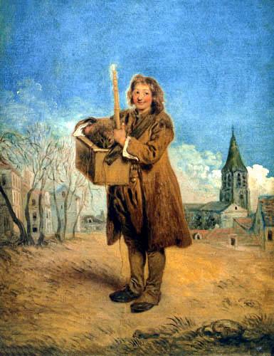 Jean-Antoine Watteau - Savoyarde mit Murmeltier