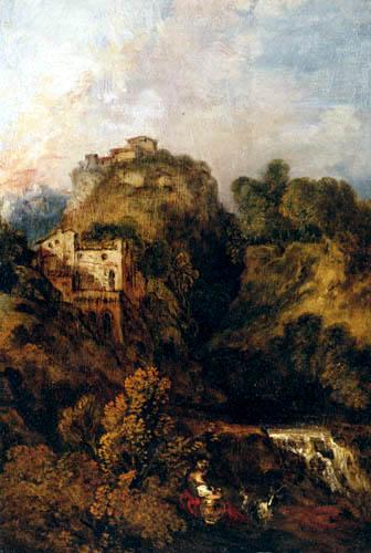 Jean-Antoine Watteau - Landscape with goats