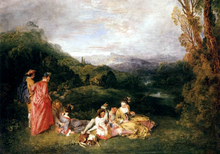 Jean-Antoine Watteau - The love in the country