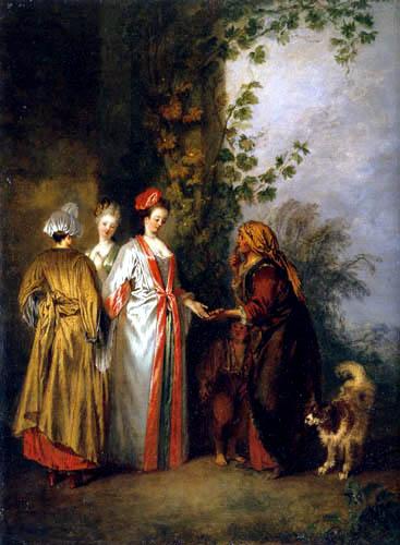 Jean-Antoine Watteau - Fortuneteller