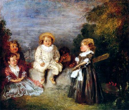 Jean-Antoine Watteau - Glückliches Alter, goldenes Alter