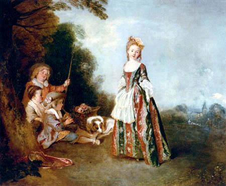 Jean-Antoine Watteau - The dance