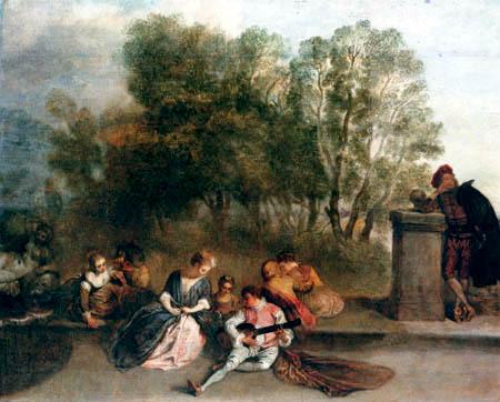 Jean-Antoine Watteau - Amusement