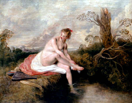 Jean-Antoine Watteau - Diana in the bath