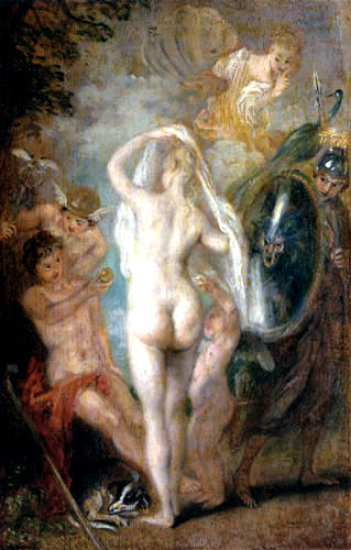 Jean-Antoine Watteau - The Judgement of Paris