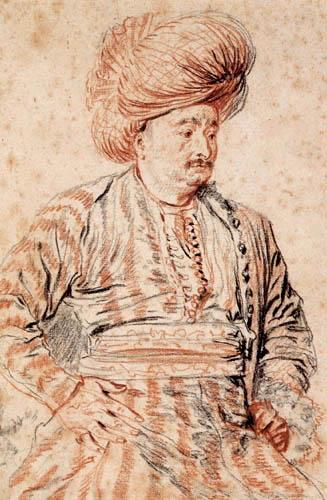 Jean-Antoine Watteau - Sitzender Perser