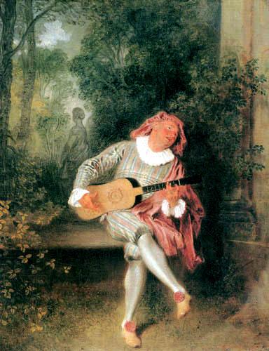 Jean-Antoine Watteau - Mezzetin