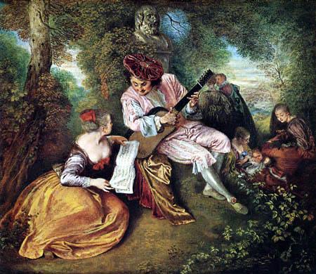 Jean-Antoine Watteau - The Lovesong