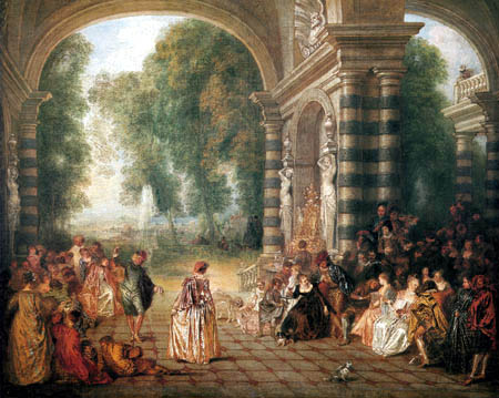 Jean-Antoine Watteau - The joys of the ball