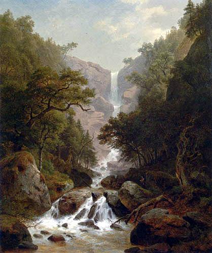 Paul Gottlieb Daniel Weber - Cascading Waterfall