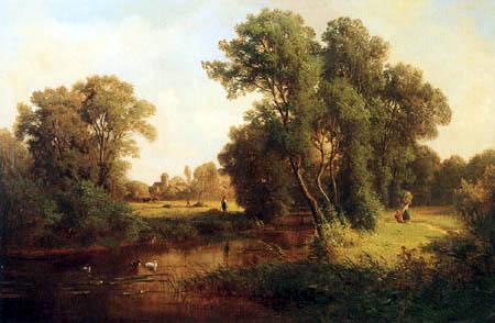 Paul Gottlieb Daniel Weber - River landscape