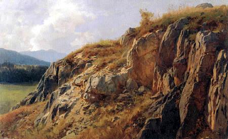 Paul Gottlieb Daniel Weber - Rocky Landscape