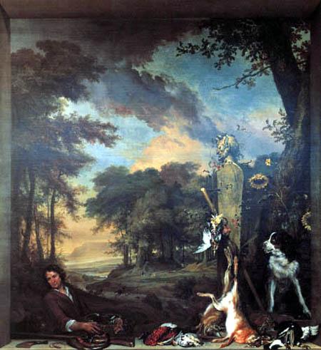 Jan Weenix - Jäger und Stillleben