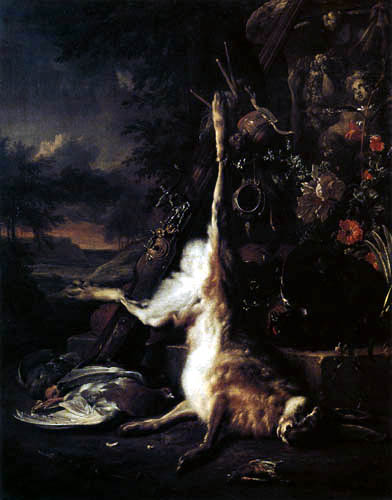 Jan Weenix - Still life with animals