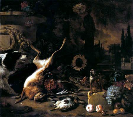 Jan Weenix - Hunt still life