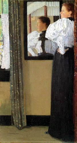 Julian Alden Weir - Before the mirror
