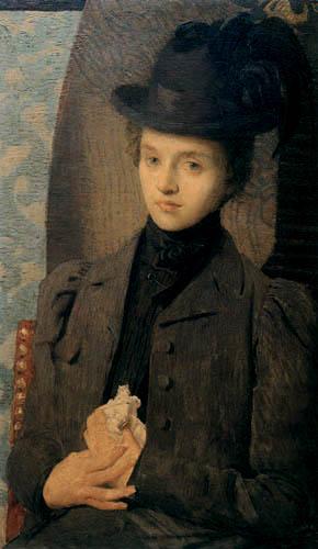 Julian Alden Weir - The black hat