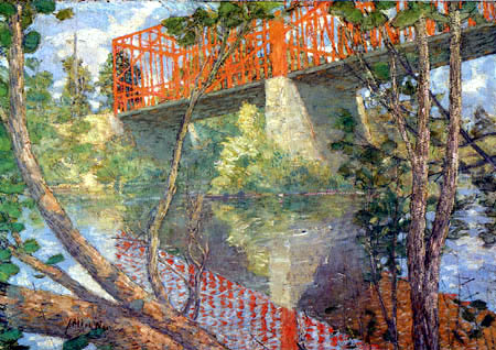 Julian Alden Weir - The red bridge