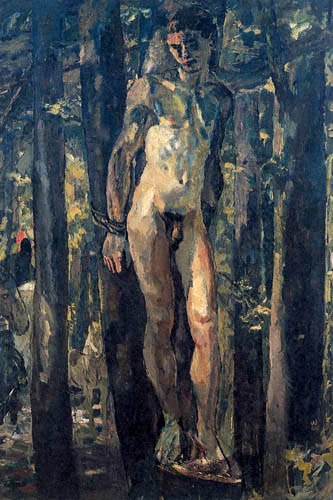 Albert Weisgerber - Gefesselter Sebastian im Walde