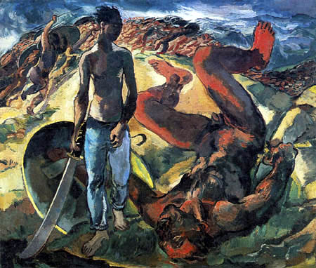 Albert Weisgerber - David et Goliath