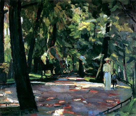 Albert Weisgerber - Ausritt im Englischen Garten