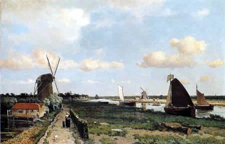 Hendrik Johannes Weissenbruch - Niederländische Landschaft