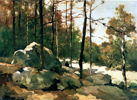 Hendrik Johannes Weissenbruch - Paysage boisé