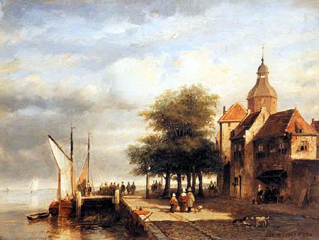 Jan Weissenbruch - Blick auf 'Het Groothoofd', Dordrecht