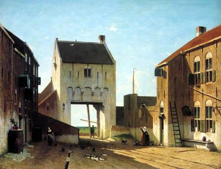 Jan Weissenbruch - Town-gate of Leerdam