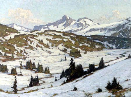 William Wendt - Mount Rainer, Paradise-Valley