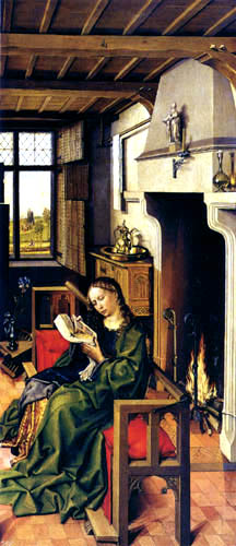 Rogier van der Weyden - The altar of Werl, St. Barbara