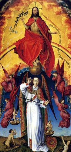 Rogier van der Weyden - Beaune Altar, Christ and St.. Michael, midsection