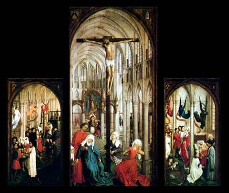 Rogier van der Weyden - The triptych of the seven sacraments