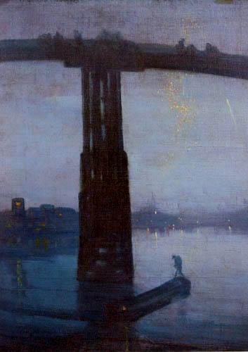 James Abbott McNeill Whistler - Die alte Battersea-Brücke
