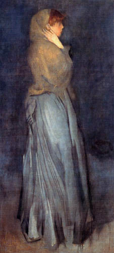James Abbott McNeill Whistler - Effie Deans in yellow and grey