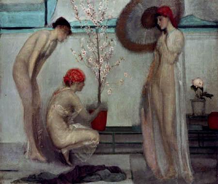 James Abbott McNeill Whistler - Drei Figuren: Rosa und Grau