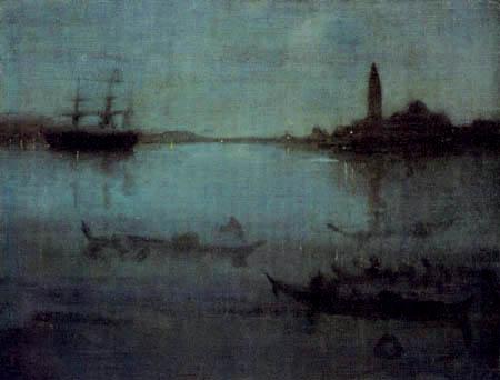 James Abbott McNeill Whistler - Lagune in Venedig, Nocturne in Blau und Silber