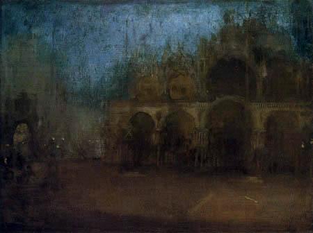 James Abbott McNeill Whistler - St. Markus Platz, Venedig